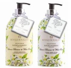 Baylis & Harding Royal Bouquet Collection | Lemon Blossom & White Rose Hand Wash & Hand Lotion Set by Baylis & Harding. $29.95