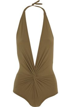 Karla Colletto Twist-front swimsuit | THE OUTNET