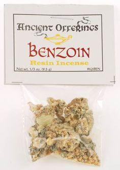 Benzoin granular incense chunks 1/3 oz