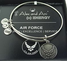~Alex and Ani Air Force Expandable Bracelet Energy Russian Silver. I love mine as a gift the day my son left for Basic training Oct. Now he's a certified EOD Bomb Tech. So proud of my Noah. Air Force Girlfriend, Military Girlfriend, Military Mom, Boyfriend, Proud Of My Son, Airforce Wife, Air Force Academy, Air Force Mom, Rotc