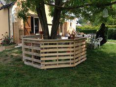Bar au vert / Garden pallets bar #Bar, #Garden, #Pallets, #Recycled