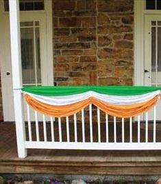 Fabric Bunting Irish Flag St Patricks Day Indoor / Outdoor Party Decoration | eBay