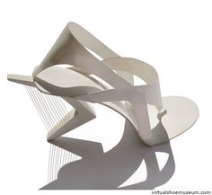 Architectural shoe inspired by Calatrava (Tea Petrovic)
