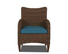 Klaussner Outdoor Outdoor/Patio Palmetto Dining Chair W1400 DRC - Klaussner Outdoor - Asheboro, NC