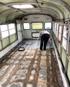 6 Ways To Get Through the First Weeks Of Your School Bus Conversion - Skoolie Livin School Bus Tiny House, Old School Bus, Converted School Bus, School Bus Conversion, Camper Conversion, Bus Remodel, Rv Bus, Bus Living, Living Spaces