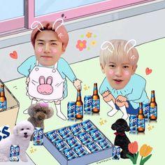 Exo Kai, Exo Chanyeol, Kyungsoo, Cute Disney Wallpaper, Cute Cartoon Wallpapers, Exo Cartoon, Exo Stickers, Sehun Cute, Exo Chanbaek