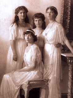 Olga, Tatiana, Marie, and Anastasia Romanov.