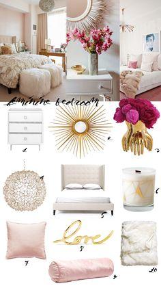 Made By Girl: DESIGN: Feminine Bedroom Decor – Blush pink interior design Decor, Beautiful Bedrooms, Bedroom Makeover, Feminine Bedroom Decor, Modern Feminine Bedroom, Home Decor, Room Inspiration, Apartment Decor, Bedroom Decor