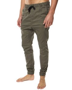 SURFSTITCH - MENS - PANTS - CHINO - ZANEROBE SURESHOT ELASTIC PANT - KHAKI