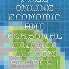 Free Online Economic And Personal Finance Lesson Search | EconEdLink