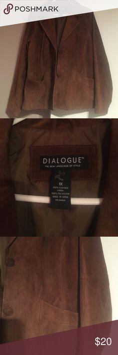 Suede jacket 1x Brown suede jacket Jackets & Coats Blazers