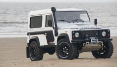 Land Rover Defender - extended exhaust snorkle. See guide.