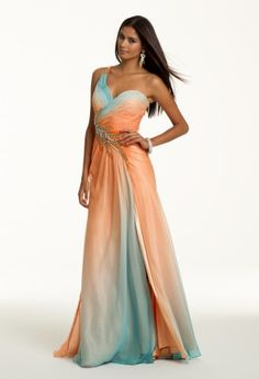 Prom Dresses 2013 - Ombre One Shoulder Long Dress from Camille La Vie and Group USA
