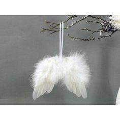 Andělská křídla z peří 18 x 16 cm, bílá Peru, Dandelion, Christmas Decorations, 18th, Flowers, Products, Turkey, Dandelions, Taraxacum Officinale