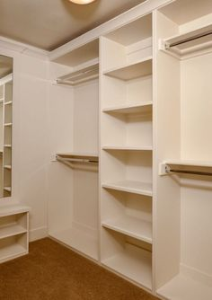 Master Closet Design Ideas pull outs valet rods hooks shelves and even a vanity area could Solid Foundation Base For A Custom Closet Small Closet Designmaster