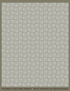 Printable Classic French Floor Tiles for Dollhouse Floors: Printable Beige Miniature Tiles in a Classic French Style