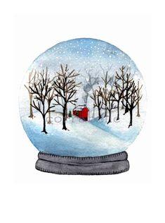 Watercolor Christmas Cards, Christmas Drawing, Christmas Paintings, Watercolor Cards, Christmas Art, Watercolor Paintings, Xmas, White Christmas, Watercolors