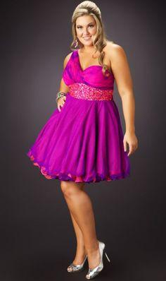Plus+Size+Evening+Dresses | Fabulouss Plus Size 1 Shoulder Short Prom Dress by MacDuggal 3367F ...