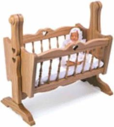 Doll cradle plans for sale at very reasonable cost. Choose between instant download PDF files to print at home or full size paper patterns.:
