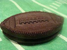 the football oreo. Football birthday cakes and football cookies.