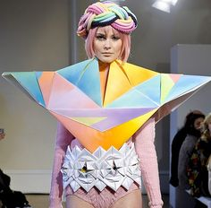 My Little Pony + Origami = Fred Butler's Womenswear for Autumn Winter 2012.