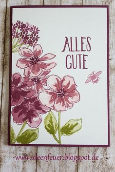 handmade card ... Penned and Painted ... plums ... artistic look with three-stamp images ... Stampin' Up!