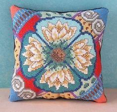 Water Lilies Mini Cushion Cross Stitch Kit - Sheena Rogers Designs