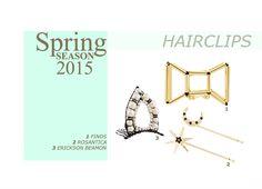 Fashion Women Spring/Summer 2015 #spring #summer #2015 #women #fashion #hairclip #hair #clip #accessories #Finds #Rosantica #EricksonBeamon