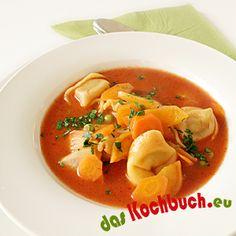 Tortellini-Tomaten-Suppe