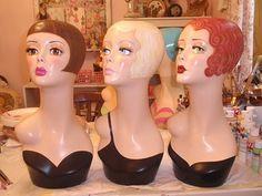 Nostalgic mannequin heads