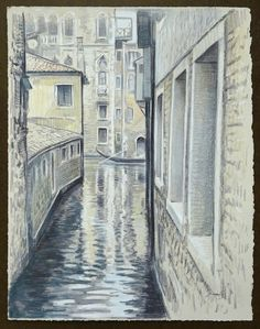 Travel Drawing: Venice, Italy Prismacolor Pencil on gray paper x 2017 Travel Drawing, Prismacolor, Venice Italy, Pencil Drawings, Gray, Paper, Artwork, Pencil, Italy