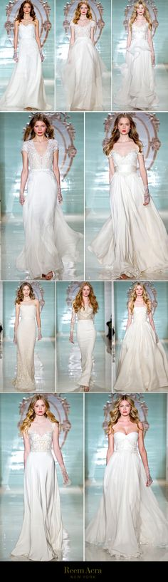 Reem Acra Spring 2015 Collection | available at The Bridal Salon at Neiman Marcus #wedding #bridalgown #weddingdress #reemacra