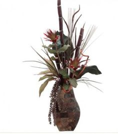 Asian Style Faux Floral Design with Sugarcane and Protea ARWF3012