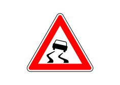 Risk Of Skidding Vector Traffic Sign