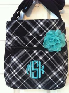 Love Turquoise on this Black & White Plaid!