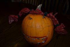 Close-up of Brooklyn's pumpkin!