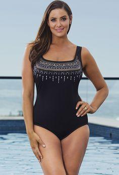d35833f93e408 Longitude Embellishments One Piece Plus Size Swimwear