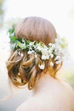 amazing floral crown // photo by Milou + Olin // flowers by Soulflower Floral Design // view more: http://ruffledblog.com/oakland-beach-house-wedding/
