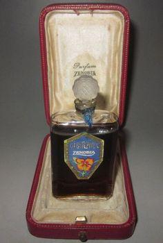 "Rare Vintage ""Gilly Flower"" Zenobia Perfume Bottle Paris London with box 1900s | eBay"