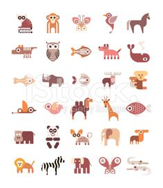 Animal Icons royalty-free stock vector art