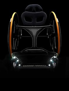 Carbon Black Wheelchair An extremely lightweight and portable wheelchair that's easy to breakdown and transport.