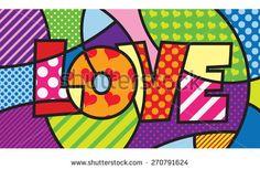 Modern pop art artwork for your design - stock vector
