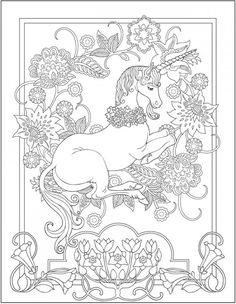 Download: Unicorn Coloring Page