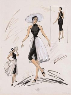 "Costumes by Edith Head from ""To Catch a Thief,"" 1955."