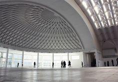 Pier Luigi Nervi's salone b (principale) di torino esposizioni.  Photo by bengasi, via Flickr
