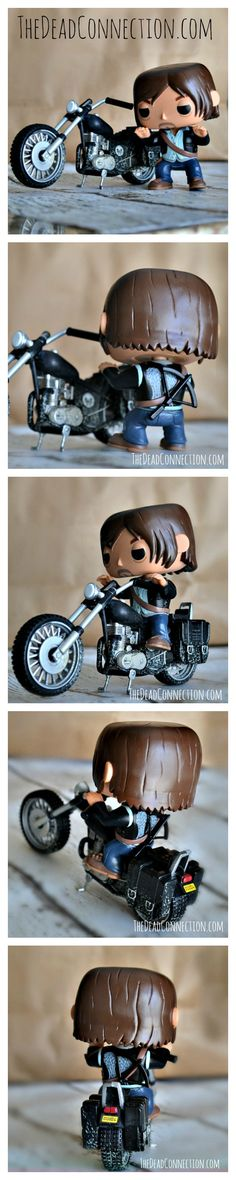 Check out this adorable Funko POP The Walking Dead Daryl's Bike Action Figure! Carrie got this for her birthday! We snapped a few pics because it is just so cool! #TWD  http://www.thedeadconnection.com/