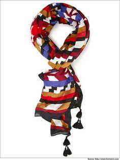 Color-blocked stripped tassel #scarf.  #Forever21 #WomenFashion