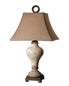 View the Uttermost 26785 Single Light Crackled Ivory Table Lamp from the Fobello Collection at Build.com.