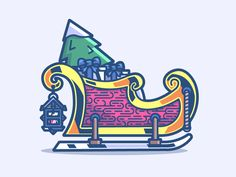 Santa's sled 18/24 by Benjamin Bely #Design Popular #Dribbble #shots