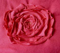 T-shirt to toddler dress tute (love the flower embellishment)